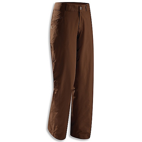 Features of the Arcteryx Women's Rabat Pant Midweight, stretch nylon Cresta fabric provides comfort and mobility Zippered fly closure with snaps (one hidden, one exposed), belt loops Articulated patterning, gusseted crotch Mesh-lined hand pockets, two rear pockets, zippered tHigh pocket - $109.00