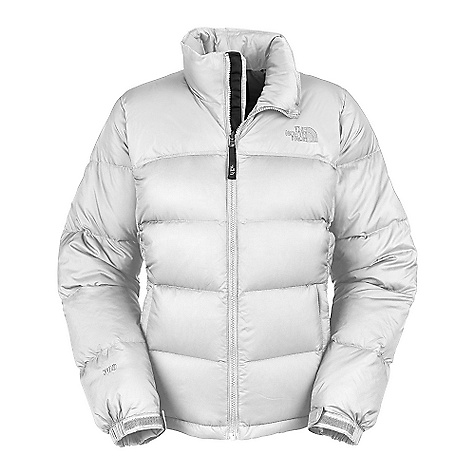 On Sale. Free Shipping. The North Face Women's Nuptse Jacket (Fall 2010) DECENT FEATURES of The North Face Women's Nuptse Jacket High loft down jacket with an improved fit Standard fit Zip-in compatible Double-layer taffeta on shoulders Stows in left hand pocket Two hand pockets Internal chest pocket Velcro adjustable cuff tabs Hem cinch cord Elastic bound cuffs Improved fit The SPECS Average Weight: 24.7 oz / 700 g Center Back: 26in. Fabric: Abrasion: 50D 64 g/m2 (1.9 oz/yd2) plain weave nylon with DWR, Body: 50D 64 g/m2 (1.9 oz/yd2) mini-ripstop weave nylon, Insulation: 700 fill goose down This product can only be shipped within the United States. Please don't hate us. - $159.99