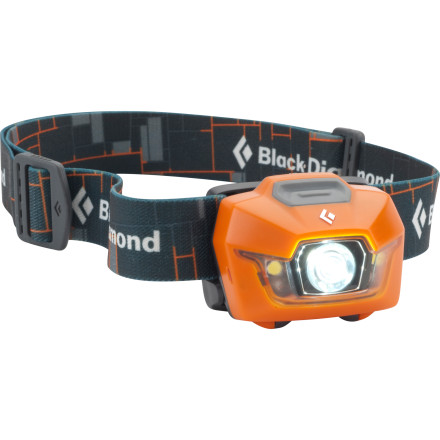 Camp and Hike Shine light on the wettest, coldest situations with the Black Diamond Storm Headlamp. A waterproof housing and powerful multiple LED design raises the bar for tough, head-mounted lighting. On the highest power beam setting, see up to 70m down the trail or up your climb. Single-switch operation makes switching modes simple and quick, and a lock mode on the dimming switch lets you set your light and forget it. Weighing in at a feathery 3.7-ounces, the Storm offers versatile, efficient lighting in a tougher-than-a-rhino package. - $49.95