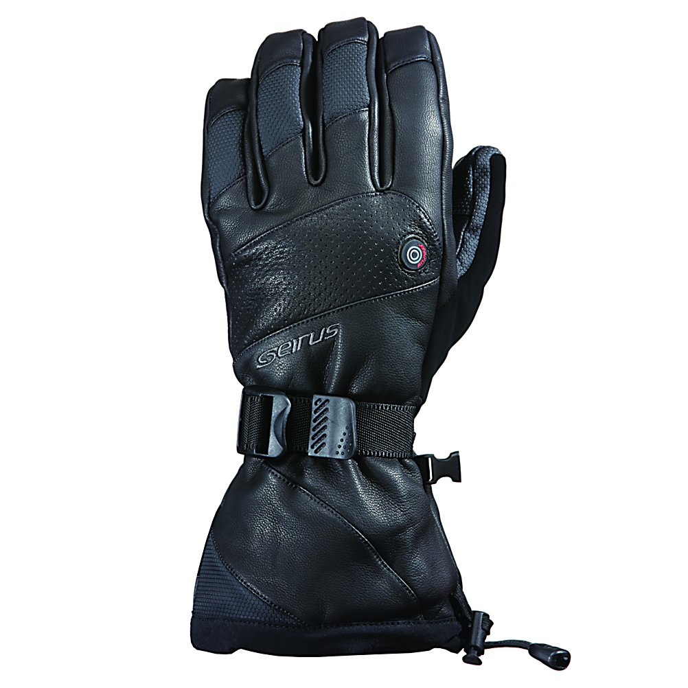 Ski Do your hands become cold, ruining your day on the slopes?  The Seirus Heat Touch Inferno Glove is the answer to all of your problems.  This glove is magic, featuring Heat Touch which is a rechargeable warming glove that runs on Li-ion batteries that will keep your hands warm up to 6 hours.  You can hot swap your batteries for continuous heating.  4 different temperature settings allow you to customize your perfect temperature for your hands.  If the batteries die, life will move on because you still get 200g of Heatlock insulation.  DryHand inserts provide a waterproof and breathable membrane capable of withstanding natures weather.  Premium full-grain leather with a one-handed wrist and cuff cinch secure the glove around the hand.  The Seirus Heat Touch Inferno Glove is going to make you feel like the sun is in the palm of your hand.  Rechargeable batteries up to 6 hours,  Soft toggle switch with 4 heat setting,  Hot swap batteries for continuous heating,  Hand washable and dryable,  Leather Shell and Palm,  Equipped with AC Charger that can be used in a cigarette lighter.  Not USB compatible.,  Battery Power: 1500 amps,  Breathable: Yes, Cuff Style: Over the cuff, Glove Quality: Best, Model Year: 2017, Product ID: 288511, Model Number: 1098.1.0013, GTIN: 0090897045581, Waterproof: Yes, Glove Outer Fabric: Leather, Wristguards: No, Use: Ski/Snowboard, Type: Glove, Race: No, Battery Heated: Yes, Material: Heatlock insulation, Removable Liner: No, Glove/Mitten Insulation: Synthetic, Glove Weather Condition: Frigid, Warranty: One Year - $374.99