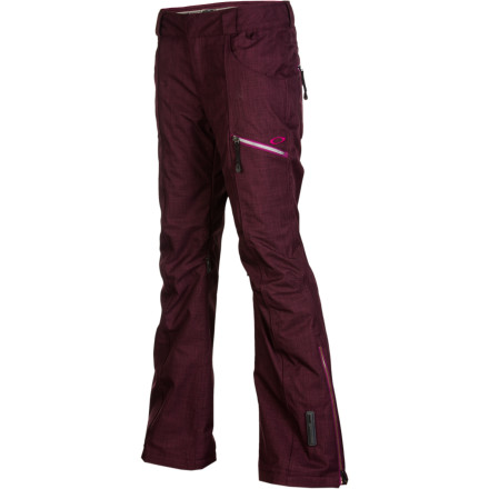 Snowboard Thanks to Gretchen Bleiler's pro input, the Oakley Women's GB Insulated Pants have a sleek, streamlined look, an easy fit, and enough weather-blocking tech to keep you warm and dry. If you decide to ditch the resort for fresh stashes these pants will keep out the snow and the cold. Or, if you feel like throwing down at the park all day, these insulated bottoms will help you stay warm while you wait your turn, and they'll remain breathable enough to deal with all the extra heat you generate taking rails. - $168.00