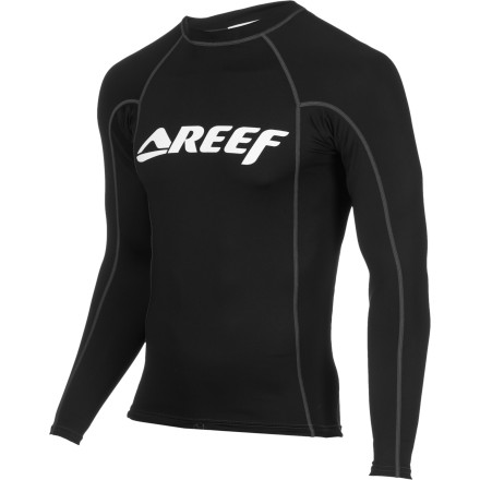 Surf It's stretchy, comfortable, and UV-blocking, so the only thing missing from the Reef Men's Puerto Rashguard is you ... and Rico. - $31.17