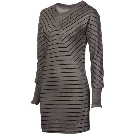Entertainment When you're torn as to what to wear to your BF's gallery opening, turn to the Rip Curl Women's Out Of Line Bodycon Dress. Its flattering diagonal paneling, feminine fit, and mid-thigh cut accentuate your curves and provide a sophisticated appearance. - $29.87