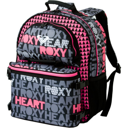 Camp and Hike The Roxy Girls' Bunny Backpack comes with a detachable cooler lunchbox and a plastic food container so your rabbit can carry her carrots and lettuce to the lunchroom in style. Roxy also included a drink bottle for strawberry lemonade or grape juice on the go. A good-sized main compartment fits a sweater and a book or two without weighing your girl down on her walk to school. - $34.65