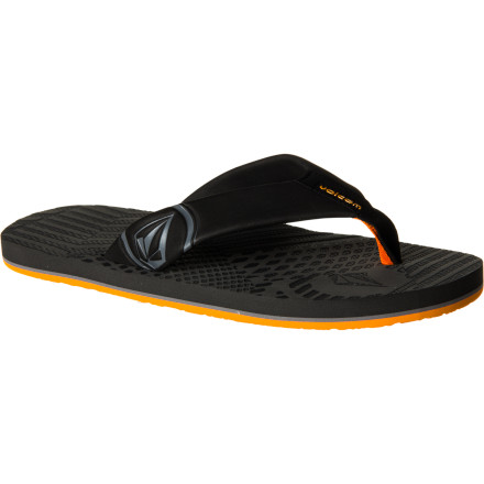 Surf Summer's here. Ditch the shoes and let your dogs come out to play. The Volcom Burner Creedler Flip Flop offers up ultimate foot-freedom for every glorious, sun-baked day. - $18.36