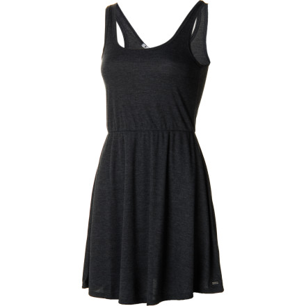 Entertainment Bring on the smolder in the Volcom Women's My Favorite Dress, with fitted tank top and drapey skirt. In this simple, sporty elegance, you'll turn heads when you enter any room; and a sexy keyhole back makes a grand exit. - $31.46