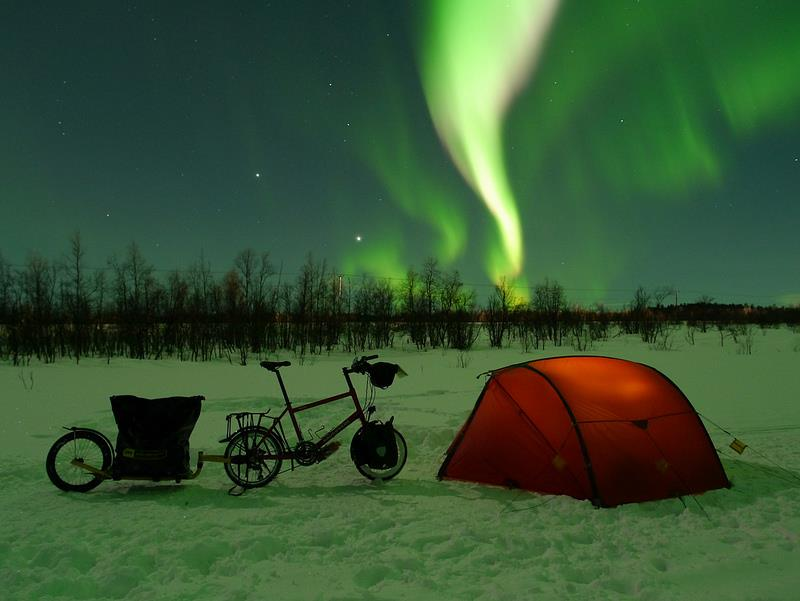 Camp and Hike Aurora Borealis