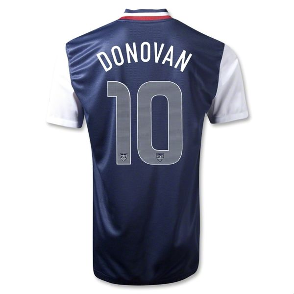 Entertainment Mens DONOVAN USA Away Soccer Jersey 12/13