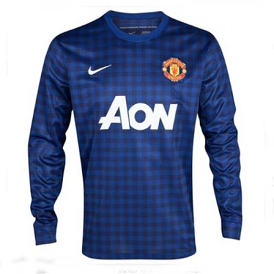 Sports Manchester United GOALKEEPER Long Sleeve Away Soccer Jersey 2012-13 Season