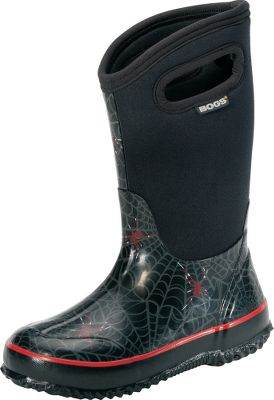 "Fishing As comfy and convenient as a pair of wear-everyday house slippers, yet combat-boot tough to tackle outside chores. Imported. Height: 8"". Boys sizes: 1-6, 9-13. Color: Black Spiders. - $49.88"