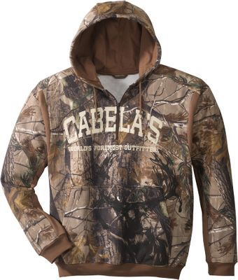 Hunting Treat yourself to the plush, unmatched soft feel afforded by the fabric in this cotton/polyester blend hooded sweatshirt. The material is 40% denser than other comparable camouflage sweats without extra bulk or weight. Drawcord hood. Machine washable. Imported. Sizes: M-3XL.Camo pattern: Realtree AP. - $18.88