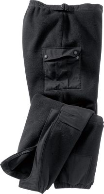 Combining form and function to keep your legs comfortable on the windiest of days, you'll appreciate the effort we've put into our feature-loaded WindShear Pants. They have two large snap-closure cargo pockets. Side leg zippers with storm flaps for easy on and off. The waistband is partially elastic with webbing adjustments for just the right fit, and there is the convenience of a zipper fly with a closure snap. The knees are reinforced with nylon oxford. Adjustable elastic cuffs. Imported. Tall sizes: M-3XL. Color: Black. - $39.88