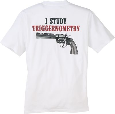 Hunting The perfect tee shirt for every gun lover out there who takes great pride in the skill and knowledge that comes with shooting, whether its hunting or target practice. High-quality screen printing. Double-needle stitching on sleeves and hem. 100% jersey knit cotton. Imported.Sizes: M-2XL.Color: White. - $17.99