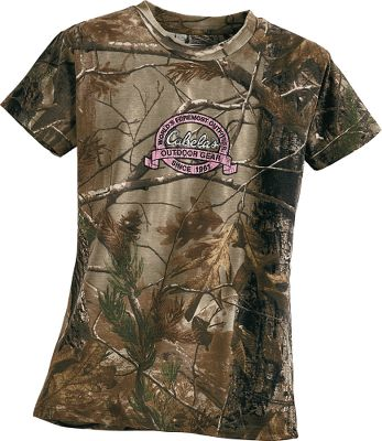 Hunting Let her show her love for the outdoors while still keeping a feminine touch. Made of soft, breathable 60/40 cotton/polyester fabric. Imported. Sizes: S-XL.Color: Pink Camo. - $13.99
