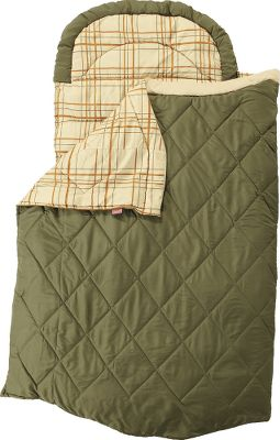Camp and Hike Oversized sleeping bag has plenty of room for stretching out. Packed with 3 lbs. of cozy ThermoTech solid core insulation. Zipper-free construction for bed-like comfort resembles sleeping with sheets and blankets. Ideal for use with an air mattress. Machine washable. Manufacturers five-year limited warranty. Imported.Dimensions: 78H x 38W. - $34.88