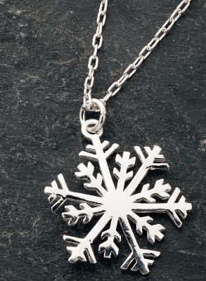 Entertainment Celebrate the season of snow in style. Snowflake is crafted of .925 sterling silver.Chain length: 19.Pendant dimensions: 1L x .8W. - $29.99