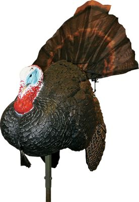Hunting Mojo teamed with Mr. Turkey himself, Preston Pittman, world-champion turkey caller and expert turkey hunter, to develop this full-body, full-motion turkey decoy. This lifelike motion decoy naturally draws a gobblers attention to the decoy spread and away from the hunter. A remote control allows you to raise and lower the decoys tail while simultaneously turning its body from 150 ft. away. Operates on four AA batteries (not included) and mounts on a 2-ft. steel stake that can also be stored inside the decoys body. Includes a blaze orange carry bag. Color: Blaze Orange. - $149.99