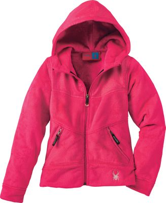 Plush, double-pile polyester microfleece provides soft, next-to-skin comfort and warmth. Nylon and polyester overlays prevent wear in key areas for lasting durability, while the water repellent finish sheds moisture. Eye-catching Spyder logos and hardware. Attached hood. Imported. Sizes: S-XL.Colors: Blue Bay, Raspberry. - $54.88
