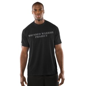 Fitness This classic UA Tech(TM) T-shirt is an Official Wounded Warrior Project Licensed productBetween August 2012 and December 2014, Under Armour(R) will make a donation of over $1 Million to Wounded Warrior Project(TM)  benefiting injured service members and their familiesPerformance fabric has a softer, more natural feel, for incredible comfortLightweight, 4-way stretch fabrication improves range of motion and dries fasterAdvanced HeatGear(R) moisture management technology keeps you cooler and drierAnti-odor technology prevents the growth of odor-causing microbes so your gear stays fresher, longerLarge WWP graphic on the back to let everyone know you stand squarely behind the Wounded Warrior Project5.8 oz. Polyester/ElastaneImported - $24.99