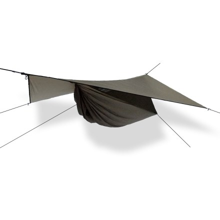 Camp and Hike Setting up in about 2 minutes, this asymetrical hammock and rainfly are the perfect comfortable shelter for the ounce-conscious hiker. - $249.95
