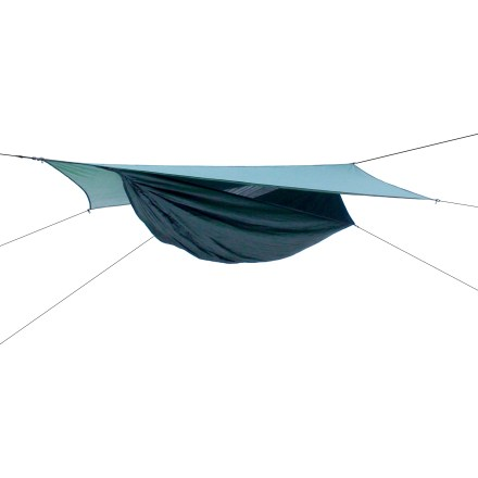 Camp and Hike This comfortable, asymmetric hammock has a side entry, double-slider zipper and large, protective rainfly that make it perfect for those who like to travel light. - $179.95