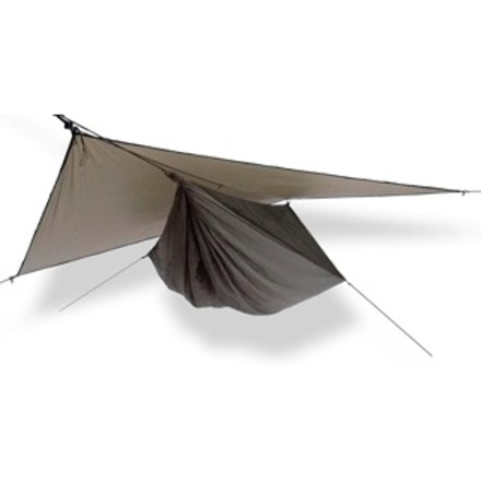Camp and Hike The Hennessy Hyperlight Asym Zip hammock shelter combines durability and comfort with light weight and packability- perfect for thru-hikers and those who want to minimize their load. - $279.95