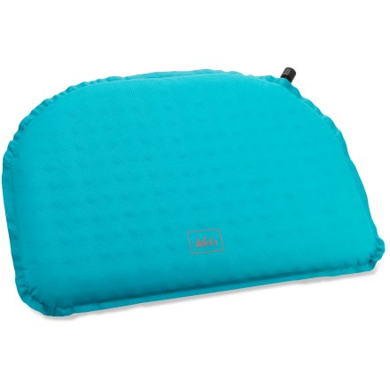 Camp and Hike Making lunch stops almost as comfortable as sitting on your cushy couch, the REI Sit Pad packs down to about the size of your 16 oz. water bottle and quickly inflates for a backcountry seat. - $19.95