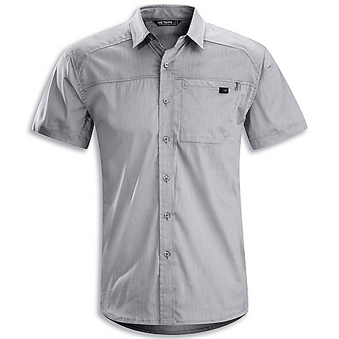 Hunting Free Shipping. Arcteryx Men's Frontera SS Shirt DECENT FEATURES of the Arcteryx Men's Frontera Short Sleeve Shirt New fabric Cotton/polyester blend fabric with stretch Articulated patterning allows freedom of movement Chest pocket with hidden zipper shaped hemline Embroidered Bird logo We are not able to ship Arcteryx products outside the US because of that other thing. We are not able to ship Arcteryx products outside the US because of that other thing. We are not able to ship Arcteryx products outside the US because of that other thing. We are not able to ship Arcteryx products outside the US because of that other thing. The SPECS Weight: M: 5.3 oz / 150 g Fit: Relaxed Fabric: Wye - 78% cotton, 22% polyester This product can only be shipped within the United States. Please don't hate us. - $68.95