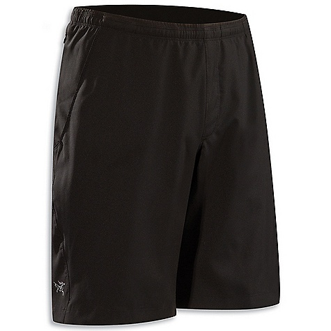 Free Shipping. Arcteryx Men's Accelero Short DECENT FEATURES of the Arcteryx Men's Accelero Short Lightweight, airy fabric treated with DWR finish Unlined, with longer length inseam versatility Two hand pockets with mesh lining Zippered side security pocket We are not able to ship Arcteryx products outside the US because of that other thing. The SPECS Weight: M: 5.3 oz / 150 g Fit: Athletic Fabric: Circuit - 100% polyester This product can only be shipped within the United States. Please don't hate us. - $74.95