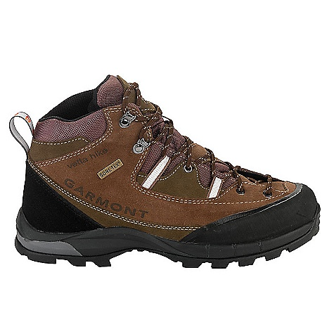 Camp and Hike Free Shipping. Garmont Men's Vetta Hike GTX Boot The SPECS for Upper Weight: 1/2 per pair: 722 gram 1.8 mm water repellent suede Hook/eyelet hardware and lace webbing allow the upper to closely wrap the foot Rubber toe bumper surrounds the forefoot protecting both the upper and your toes ADD construction allows instant fit, minimal break-in PU footbed with moisture and odor management properties Gore-Tex lining provides dependable waterproof/ breathable quality The SPECS for Sole Frame Flex Light Insole External PU midsole profile for better lateral stability and compression resistance Bi-Density EVA internal core midsole provides lightweight cushioning and reduces swing weight allowing more precise foot placement on tricky terrain Jabba Vibram outsole: aggressive heel profile, wide and well spaced lugs for self cleaning, true heel for confident braking during descents - $184.95