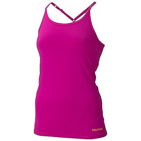 Fitness Marmot Women's Sabrina Tank DECENT FEATURES of the Marmot Women's Sabrina Tank Soft, Breathable, Performance Nylon Supplex Stretch Fabric Stretch Fabric Abrasion Resistant Nylon Ultraviolet Protection Factor (UPF) 50 Quick-Drying and Wicking Stretch for Increased Mobility Built in 3 Piece Shelf Bra with Mesh Paneling for Added Breath ability Flat-Locked Seams for Added Comfort Internal Mesh at Shelf Bra for Breath ability Narrow Adjustable Straps - Perfect for Layering The SPECS Weight: 8.5 oz / 241 g Material: 92% Nylon Supplex 8% Elastane 7.7 oz/yd Fit: Athletic - $47.95