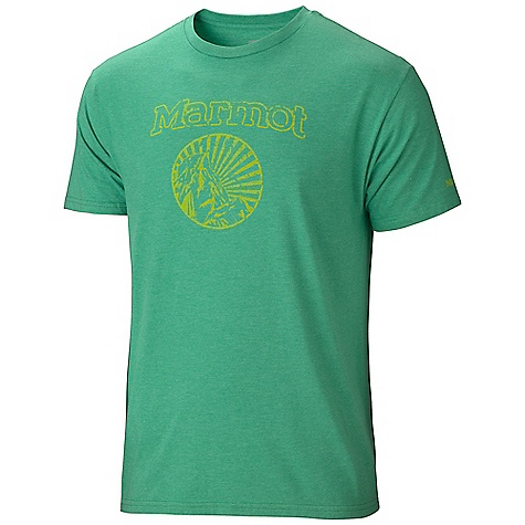 Marmot Men's Marmot Horizon SS Tee DECENT FEATURES of the Marmot Men's Marmot Horizon Short Sleeve Tee Soft, Comfortable, Lightweight Jersey Knit Fabric Graphic Tee with Center Front Logo A Blend of Polyester and Cotton for Comfort Tag-Free Neckline The SPECS Weight: 6 oz / 170.1 g Fit: Semi-Fitted 50% Ringspun Cotton 50% Polyester 4.5 oz/yd - $27.95