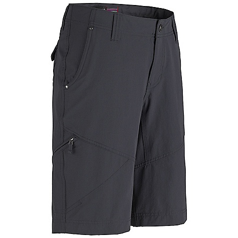 Free Shipping. Marmot Women's Sonia Short DECENT FEATURES of the Marmot Women's Sonia Short Blue Sign Approved Fabric Lightweight, Comfortable, Stretch Performance Woven Fabric Ultraviolet Protection Factor (UPF) 40 Abrasion Resistant Nylon Fabric Quick-Drying and Wicking Stretch for Increased Mobility and Comfort Contoured Waistband for added shape Inseam Gusset Panel for Increased Mobility Zipper Secure Side Pocket Back Pockets with Snap Closure DriClime Interior Waistband for Added Comfort The SPECS Weight: 8.5 oz / 241 g Material: 94% Nylon 6% Elastane 4.8oz/yd Fit: Slim Inseam: 11in. - $69.95