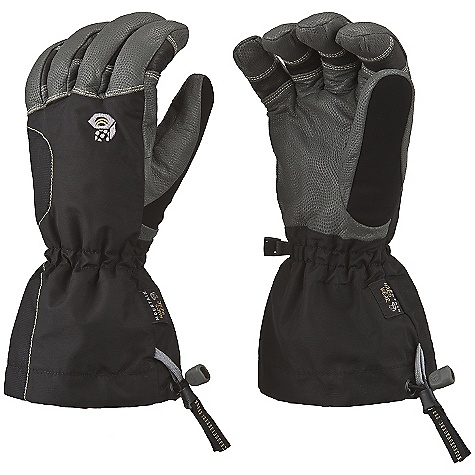Entertainment On Sale. Free Shipping. Mountain Hardwear Jalapeno Glove DECENT FEATURES of the Mountain Hardwear Jalapeno Glove Over and under cuff design enhances versatility Thick fleece liner keeps hands warm all day All leather palm is rugged and very dexterous Durable, water-resistant goatskin leather fingers and palm Soft suede thumb patch for wiping wet noses Easy to use single pull / quick release gauntlet adjustment blocks out elements The SPECS Average Weight: 7 oz / 198 g Body: Nylon Taslan (100% nylon) Laminate: OutDry Waterproof Technology Palm: Water-resistant Goatskin Leather Insulation: Thermic Micro - $79.99