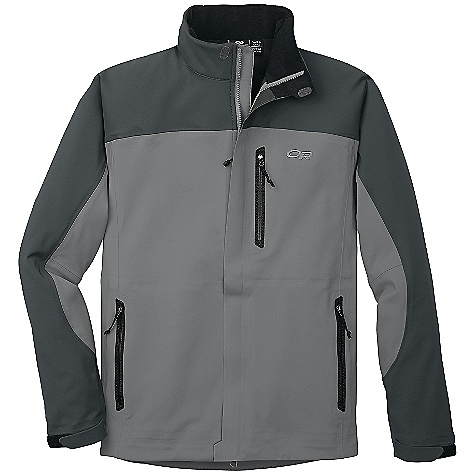 On Sale. Free Shipping. Outdoor Research Men's Credo Jacket DECENT FEATURES of the Outdoor Research Men's Credo Jacket Highly water-resistant/breathable bonded soft shell fabric nylon face, brushed fleece interior Fully seam taped Double-separating front zipper with external storm flap Zippered napoleon pocket, internal pocket with media port and two hand warmer pockets Water-resistant pocket zippers Tricot-lined collar with drawcord adjustment Hook/loop cuff closures Dual drawcord hem adjustments The SPECS Average Weight: (L): 20.5 oz / 580 g Center Back Length: 30in. / 75 cm Standard Fit This product can only be shipped within the United States. Please don't hate us. - $109.99