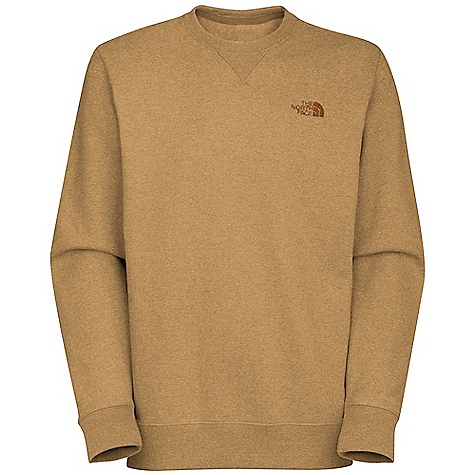 On Sale. The North Face Men's Half Dome Crew DECENT FEATURES of The North Face Men's Half Dome Crew Soft, comfortable, easy-care fabric Crew neck with triangle overlay 1x1 rib at cuffs and hem Embroidered logo at left chest The SPECS Average Weight: 17.6 oz / 498 g Center Back Length: 29in. 280 g/m2 80% cotton 20% polyester fleece This product can only be shipped within the United States. Please don't hate us. - $27.99