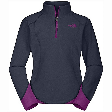 The North Face Girls' Glacier Micro 1-4 Zip DECENT FEATURES of The North Face Girls' Glacier Micro 1/4 Zip Extremely durable, pill-resistant surface Lightweight warmth Contrast-color quarter zip at neck Self fabric blocking Contrast color zipper at neck opening Embroidered logo at left chest The SPECS Average Weight: 6.88 oz / 195 g Center Back Length: 21in. 160 g/m2 Polar Tec Classic Micro fleece-100% polyester (blue sign approved fabric) This product can only be shipped within the United States. Please don't hate us. - $39.95