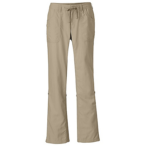 Free Shipping. The North Face Women's Horizon Tempest Pant DECENT FEATURES of The North Face Women's Horizon Tempest Pant Durable, lightweight, abrasion-resistant nylon Internal drawcord with button-fly closure Two hand pockets Two patch rear pockets Crotch gusset Secure-zip pocket on right pocket Stowpocket feature Leg roll-up feature Relaxed fit Ultraviolet Protection Factor (UPF) 50 The SPECS Average Weight: 10 oz / 280 g Inseam: short: 30in., regular: 32in., long: 34in. 70D 113 g/m2 (3.98 oz/yd2) 100% nylon woven with ripstop This product can only be shipped within the United States. Please don't hate us. - $59.95