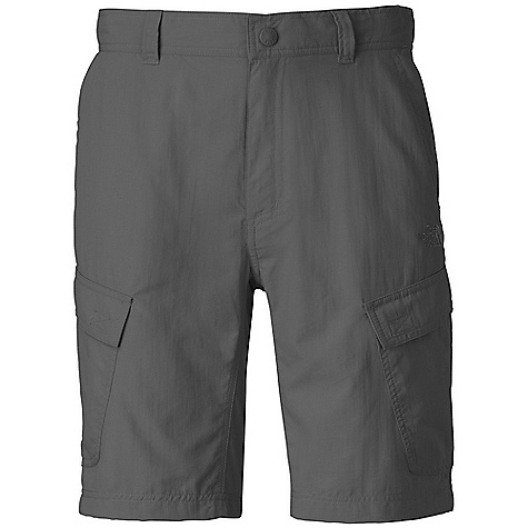 The North Face Men's Horizon Cargo Short DECENT FEATURES of The North Face Men's Horizon Cargo Short Lightweight, breathable DWR finish Fixed waist with belt loops and zip-fly Front hand pockets Velcro cargo pockets Velcro rear pocket Crotch gusset Relaxed fit Ultraviolet Protection Factor (UPF) 50 The SPECS Average Weight: 8 oz / 240 g Inseam: regular: 10in. 70D 113 g/m2 (3.98 oz/yd2) 100% nylon woven with ripstop This product can only be shipped within the United States. Please don't hate us. - $44.95