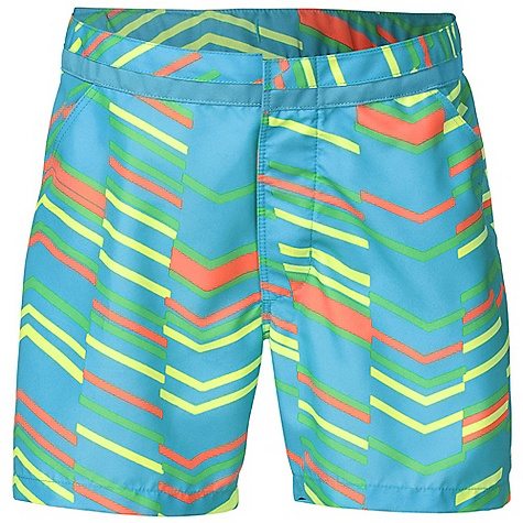 Surf The North Face Girls' Senessa Printed Water Short DECENT FEATURES of The North Face Girls' Senessa Printed Water Short Durable, QuickDry fabric Flat front waistband with snap closure Two hand pockets Adjustable elastic inside waistband Ultraviolet Protection Factor (UPF) 50 Screen-printed logo at left leg Imported The SPECS Average Weight: 3.46 oz / 98 g Inseam: 3in. 150D 147 g/m2 100% polyester plain weave with DWR This product can only be shipped within the United States. Please don't hate us. - $34.95