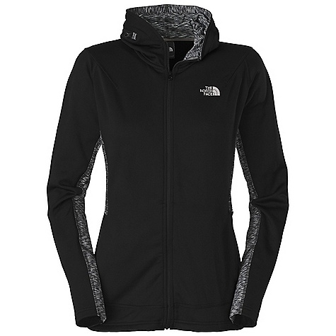 Free Shipping. The North Face Women's Rockskip Fleece Jacket DECENT FEATURES of The North Face Women's Rockskip Fleece Jacket Buttery soft, smooth-faced midweight fleece with lots of stretch for mobility Lightweight melange knit fabrication under the arms for breathability, ease of movement and pack ability Unique hood design zips into collar Gusseted under the arm to allow for ease of movement Flat-locked stitching for comfort Two hand pockets Imported The SPECS Average Weight: 16 oz / 460 g Center Back Length: 25in. Body: 70D 250 g/m2 (8.818 oz/yd2) 95% polyester, 5% elastane fleece Panel: 187 g/m2 (6.59 oz/yd2) space dye elastane jersey This product can only be shipped within the United States. Please don't hate us. - $98.95