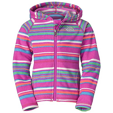 The North Face Toddler Girls' Striped Glacier Full Zip Hoodie DECENT FEATURES of The North Face Toddler Girls' Striped Glacier Full Zip Hoodie Extremely durable, pill-resistant surface Lightweight warmth Kangaroo handwarmer pockets Embroidered logo at left chest Imported The SPECS Average Weight: 3.4 oz / 97 g Center Back Length: 14.25in. 70D 155 g/m2 100% polyester fleece This product can only be shipped within the United States. Please don't hate us. - $39.95