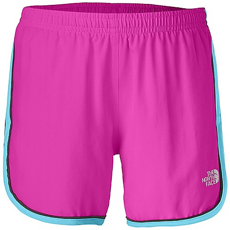 The North Face Girls' Velocitee Short DECENT FEATURES of The North Face Girls' Velocitee Short Encased elastic waistband with internal drawstring Self fabric binding Internal security pocket Reflective logo at left leg The SPECS Average Weight: 2.96 oz / 84 g Inseam: 3.5in. 70D 70 g/m2 100% polyester plain weave This product can only be shipped within the United States. Please don't hate us. - $25.00
