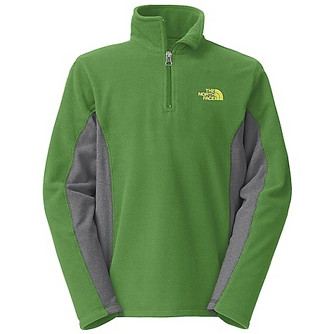 The North Face Boys' Glacier Micro 1-4 Zip Fleece DECENT FEATURES of The North Face Boys' Glacier Micro 1/4 Zip Fleece Extremely durable, pill-resistant surface Lightweight warmth Quarter zip at neck Self fabric blocking at side panels and underarms Embroidered logo at left chest Imported The SPECS Average Weight: 3.2 oz / 91 g Center Back Length: 21.5in. 70D 155 g/m2 100% polyester fleece This product can only be shipped within the United States. Please don't hate us. - $39.95