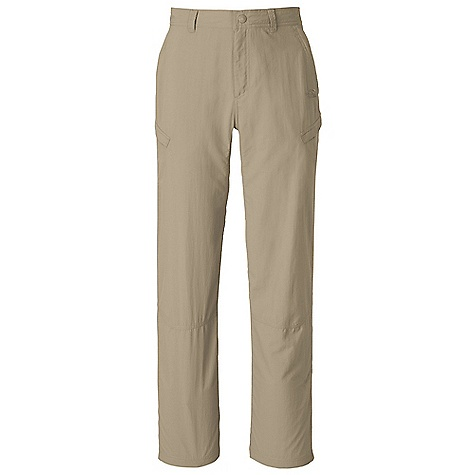 Free Shipping. The North Face Men's Horizon Cargo Pant DECENT FEATURES of The North Face Men's Horizon Cargo Pant Lightweight, breathable DWR finish Fixed waist with belt loops and zip-fly Front hand pockets Large zip closure cargo pockets Rear pockets with Velcro closure Crotch gusset Relaxed fit The SPECS Average Weight: 12 oz / 330 g Inseam: short: 30in., regular: 32in., long: 34in. 70D 113 g/m2 (3.98 oz/yd2) 100% nylon woven with ripstop This product can only be shipped within the United States. Please don't hate us. - $59.95