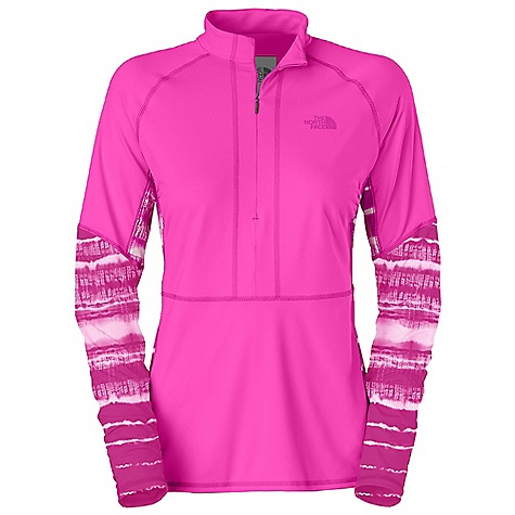 Entertainment Free Shipping. The North Face Women's Echo Lake 1-2 Zip Top DECENT FEATURES of The North Face Women's Echo Lake 1/2 Zip Top Improved fit and design Soft, quick-drying stretch fabric Quick-drying performance Mock neck 10in. invisible chest zip for venting and adjustable sun exposure Flat-locked seams Ruching at zip for a flattering and comfortable fit Printed logo Underarm gusset for range of movement Ultraviolet Protection Factor (UPF) 50 The SPECS Average Weight: 8 oz / 220 g Center Back Length: 25in. 75D 208 g/m2 (7.337 oz/yd2) 83% polyester, 17% elastane jersey knit This product can only be shipped within the United States. Please don't hate us. - $54.95