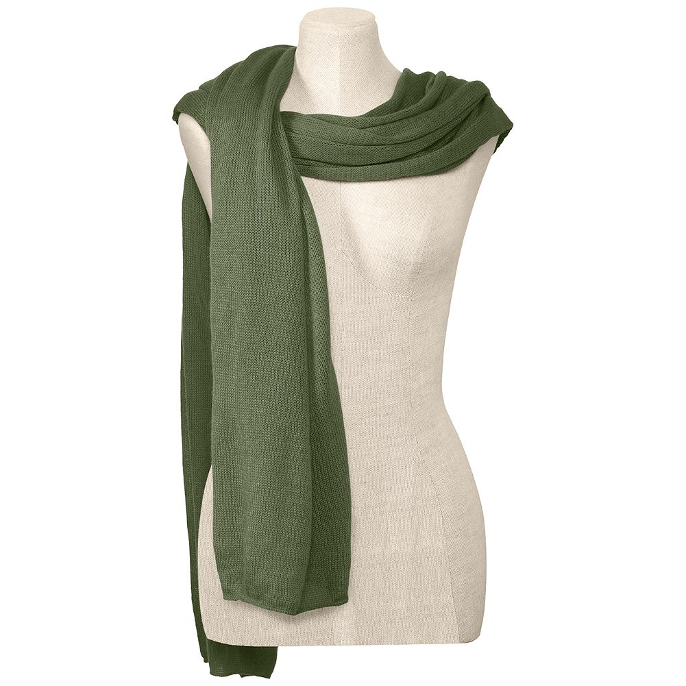 "Eddie Bauer Cashmere-Blend Scarf - Our oversized cashmere blend scarf is simple, luxurious and wide enough to be used as a wrap. 24"" W x 84"" L. Imported. - $59.95"