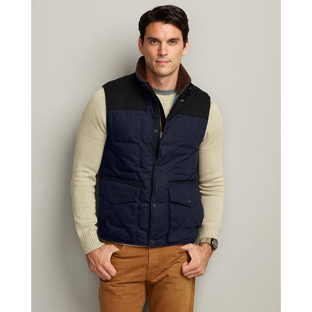 Fitness Eddie Bauer Yukon Classic(TM) Down Vest - Inspired by one of Eddie's most famous and longest-running jackets, this vest is built to his uncompromising standards with a durable cotton shell and 550 fill Premium European Goose Down throughout for reliable warmth. Classic Fit. Imported. - $59.99