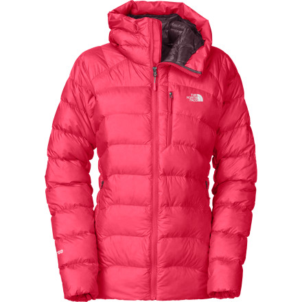 The North Face Women's Hooded Elysium Down Jacket fulfills your warmth needs whether you're on a long belay near the summit or you're heading out of the house into temps so low the thermometer broke. - $179.37