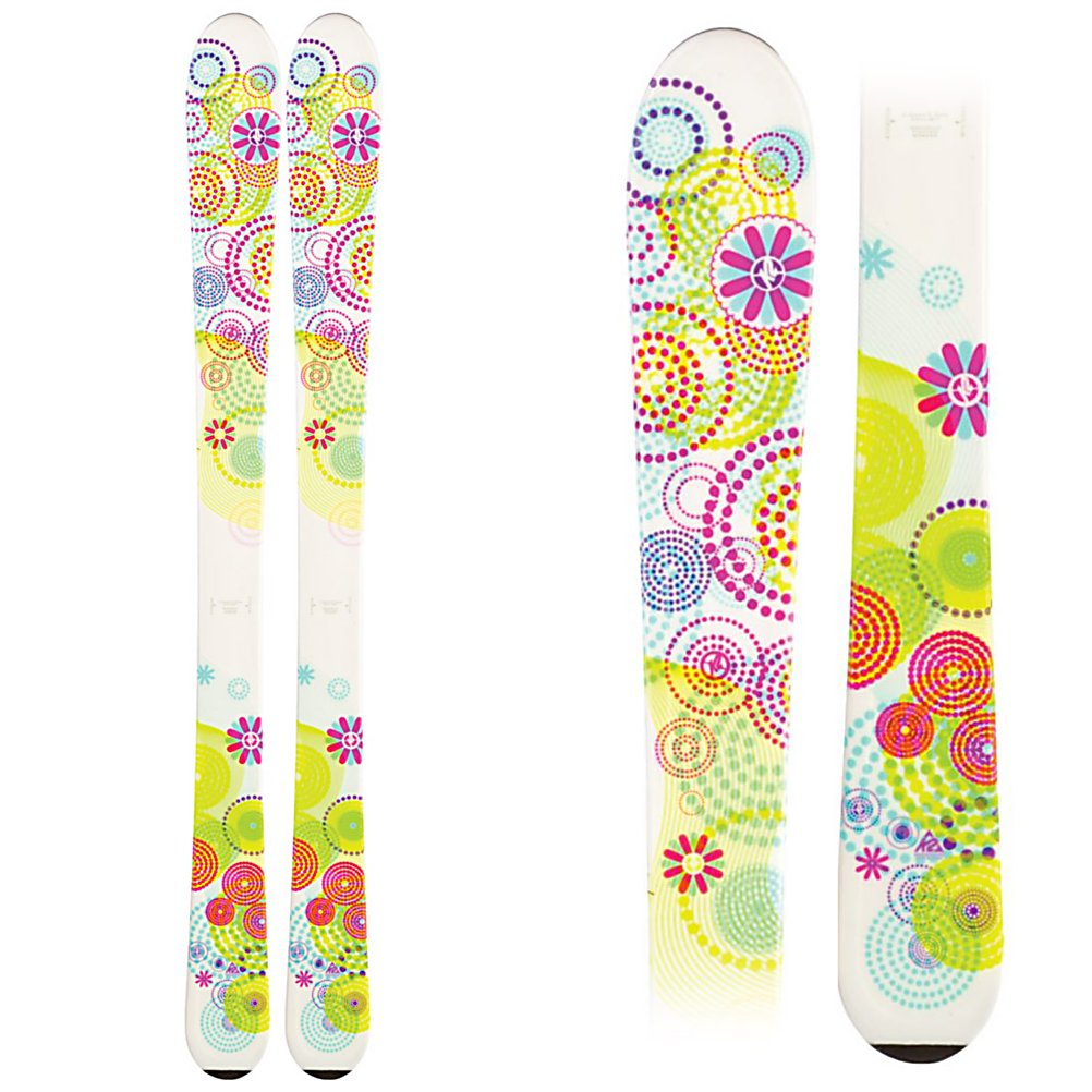 Ski K2 Luv Bug Girls Skis - The K2 Luv Bug is a great ski for kids that are starting to progress in their skiing. K2's All Terrain Rocker initiates turns easier, to help get your little lady to start carving turns instead of skidding them. The tip rocker also helps deflect the negative energy caused by the crud that can accumulate on the busy groomers. The Torsion Box cap construction gives the Luv Bug plenty of snap and rebound, without being too stiff for younger, lighter weight skiers. It also keeps the swingweight down, meaning less fatigue for the little lady so she can enjoy herself on the slopes all day with the family. . Actual Turn Radius @ Specified Length: 8m(@112cm), Warranty: One Year, Construction Type: Cap, Core Material: Composite, Base Material: Extruded, Special Features: All Terrain Rocker, Special Features: Noodle, Used: No, Titanium: No, Skill Range: Beginner - Advanced Intermediate, Model Year: 2012, Product ID: 226788, Shipping Restriction: This item is not available for shipment outside of the United States., Waist Width: 70-75mm, Turn Radius: - $89.99